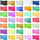 Satin Silk Pillowcase Pillow Case Cover King Queen Standard Cushion Cover New image