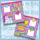 SLIME PARTY Printed Premade Scrapbook Pages