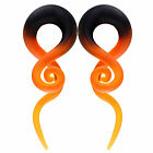 BodyJ4You 2PC Glass Ear Tapers 4G-16mm Handmade Gauges Body Piercing Jewelry Set image