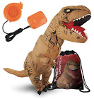 ALL NEW Adult Dinosaur Costume Inflatable T-Rex Suit with Exclusive Drawstring B