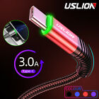 LED 3A USB Type-C Fast Quick Charging Data Sync Cable For Samsung Xiaomi Huawei