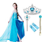 Costumes Girls Elsa Anna Princess Party Dress Frozen Fancy Cosplay Kids Clothes