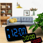 Large LED Digital Desk Alarm Clock Voice Control Time Display Snooze Function