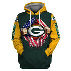 Green Bay Packers Hoodie Lightweight Small-XXXL 2XL Unisex Men Women Football B $26.99 USD on eBay