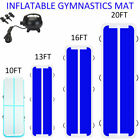 US 3-6M/10-20FT GYM Inflatable Air Track Home Inflatable Gymnastics Tumbling Mat image