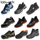 Men Safety Shoes Steel Toe Steel Sole Breathable Work Outdoor Boots Size US