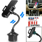 Car Mount Adjustable Tech Gooseneck Cup Holder Cradle For iPhone Cell Phone US