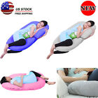 3 Colors Pregnancy Pillow Maternity Belly Contoured Body C Shape Comfort Full US image