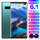 "6.1"" S10 Smart Mobile Phone Face Id/fingerprint Unlocked Dual Sim Android 9.1 Hq"
