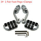 Motorcycle FootPegs Pedal Long Clamps Bracket Mount for Harley 1-1/4