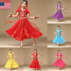 Kyпить 2Pcs Baby Kids Girls Belly Dance Outfit Costume India Dance Tops+Skirt Clothes на еВаy.соm