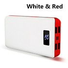 900000mAh 2 USB External Portable Power Bank LCD LED Charger for Cell Phone US