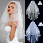 2020 Bridal Wedding Veils Cathedral 2T Comb Bridal Veil Accessories White