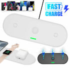 3 In1 QI Wireless Charger Charging Dock Station For Apple AirPods iWatch iPhone