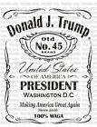 President Trump 2020 Waterslide Decals for Tumblers & Furniture - Permanent