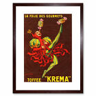Ad Food Sweet Candy Toffee Krema Cream Harlequin France Framed Wall Art Print