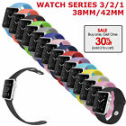 Apple Watch Series 3 2 1 38mm 42mm Replacement Band Silicone Strap For Women Men image