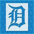 Detroit Tigers D stencil - Reusable & Durable - 10 mil - Free Shipping - Custom