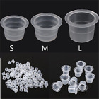 Kyпить 100Pcs Plastic Small Medium Large Tattoo Ink Cups Caps Pigment Supply на еВаy.соm