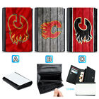 Calgary Flames Leather Women Wallet Purse Card ID Coin Holder $14.99 USD on eBay