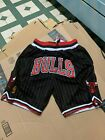 Chicago Bulls Just Don Pinstripe Black Team Mens Basketball Shorts on eBay