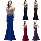 Babyonline Women's Lace Satin Long Formal Mermaid Evening Prom Party Dresses USA