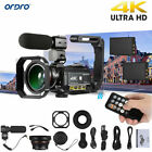 ORDRO AC3 4K Wifi Digital Video Camera DV Camcorder Lens + Microphone + Holder