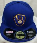MILWAUKEE BREWERS~MLB~NEW ERA~59FIFTY~AUTHENTIC~COOL BASE~ON-FIELD CAP~BLUE