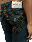 True Religion Men's Ricky Super T Straight Fit Stretch Jeans w/ Rope Stitch