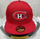 MONTREAL CANADIENS~NHL~NEW ERA~59FIFTY~OFFICIAL LICENSED~SCARLET~RED,WHITE $15.99 USD on eBay