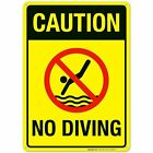 Caution No Diving Sign Pool Sign $10.99 USD on eBay