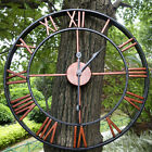Large Outdoor House Living Room Antique Garden Wall Clock Big Roman Numerals USA