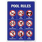 Pool Signs - Pool Rules Sign With Graphics $10.99 USD on eBay