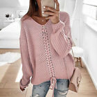 Womens Knitted Sweater Ladies Loose Oversized Casual Tops Jumper Pullover Tops
