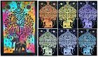 Cotton Elephant Tree of Life Yoga Mat Tapestry Ethnic Indian Wall Hanging Decor