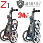MOTOCADDY Z1 3 WHEEL PUSH GOLF TROLLEY RED OR BLUE TRIM 24 HOUR DELIVERY!!!!