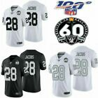 Men's 28 Josh Jacobs Jersey Oakland Raiders Football Limited Editon 100th Season $39.99 USD on eBay
