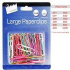Jumbo Paper Clips Large Coloured Office School Stationery 25 50 100 200 300