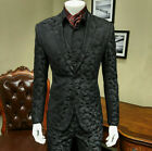 Black Camouflage Men's Suits Formal Party Tuxedos Slim Fit Tailored Fit 2 Button