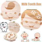 Tooth Box organizer for baby Save Milk teeth Wood storage box for kids BO