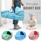 Baby Moses Basket Safe Newborn Travel Bed Bassinet Carrier Cradle w/ Hood Cute