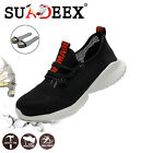 Mens Mesh Ultralight Safety Shoes Breathable Steel Toe Cap Work Trainers