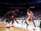 V5615 Allen Iverson vs Michael Jordan 76ers Retro Decor WALL PRINT POSTER