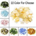 260Pcs 1cm Square Vitreous Glass Clear Mosaic Tiles For DIY Wall Art Crafts s