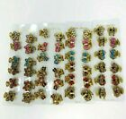 12 PCS Small Cute Rhinestone Vintage Hair Barrette Claw Clip Crystal Clamps image
