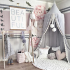 Kids Baby Bed Canopy Bedcover Mosquito Net Curtain Bedding Home Dome Cotton Tent image