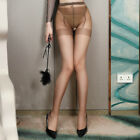 US Women's Sheer Mesh High Waist Tights Crotchless Pantyhose Hold-Ups Stockings