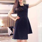 Womens One Shoulder Solid Dress Stylish Plain Casual Party Prom Gown Slim Dress