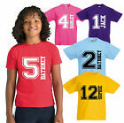 Personalised Kids Your Name & Age T-Shirt, Birthday Boys Girls Gift Kids Tee Top
