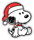 Peanuts Cartoon Christmas Snoopy Sticker Bumper Decal - ''sizes''